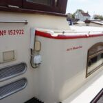 Wide Beam Barge - Built by Bluewater Boats UK.  Stainless steel grab rails along all walkways.