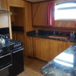 Wide Beam Barge - Fully fitted galley with integrated appliances