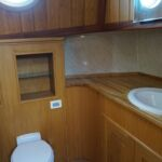 Wide Beam Barge - Main Heads with toilet and wash hand basin