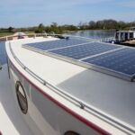 Wide Beam Barge - Solar panels on aft deck