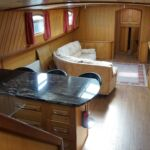 Wide Beam Barge - View into the main cabin