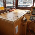Wide Beam Barge - Wheelhouse storage locker and chart table