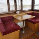 Wide Beam Barge - Wheelhouse table and seats