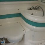 Sealine S28 - Heads with wash hand basin, toilet and shower.
