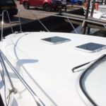 Sealine S28 - Wrap around stainless steel pulpit and forward deck