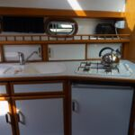 Pedro Solano 33 - Opening port lights provide good ventilation in the galley