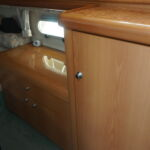 Sealine S34 - Hanging locker and storage in mid-ships cabin