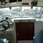 Fairline Mirage - Looking forward in the aft cockpit