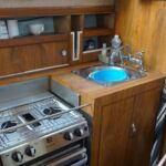Princess 32 - Galley with hob, grill, oven and sink unit