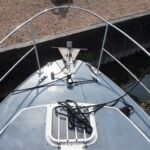 Princess 32 - Stainless steel pulpit and danforth anchor